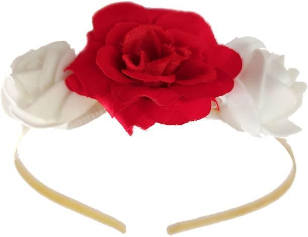 Maahal Rose Flower Crown Wedding Festival Headband Hair Garland Wedding Headpiece Hair Band
