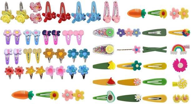 24 HSB HSB Hair Pins Colorful Stylish Hair Clips Kawaii Hair Accessories for Baby Girls -Set of 10 Tic Tac Clip