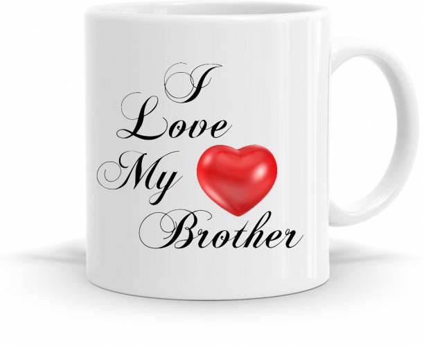 R CREATION Mug I Love My Brother Ceramic Coffee Mug