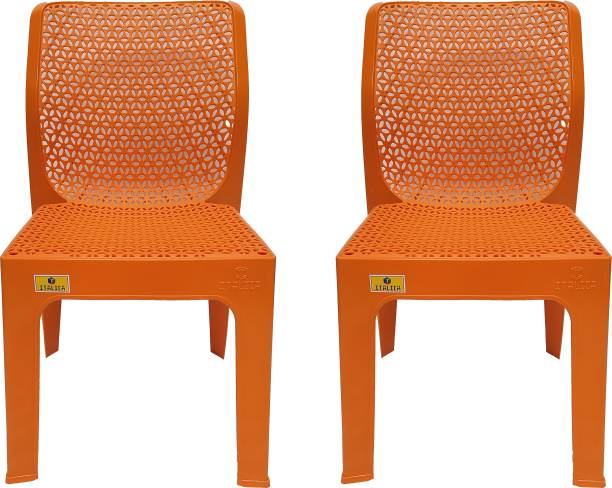 Binani Italica New Arrivel 5205 Dining/Cafeteria/Designer Armless Heavy Duty Plastic Chair for Home, Dining, Office and Garden Plastic Outdoor Chair