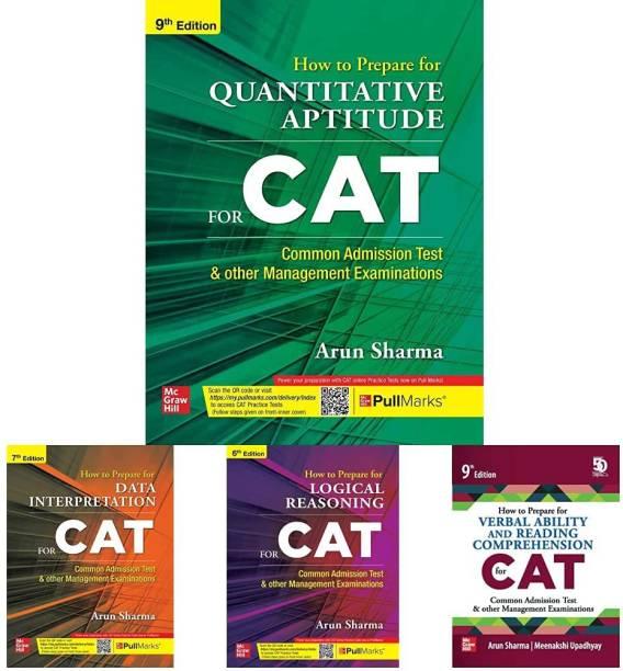 CAT Books By Arun Sharma 2021 ( Set Of 4 Books ) - Quantitative Aptitude + Logical Reasoning + Data Interpretation + Verbal Ability/Reading Comprehension