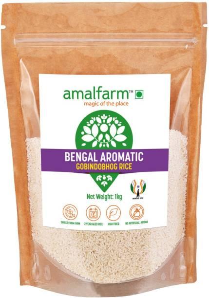 Amalfarm Bengal Aromatic Gobindobhog Rice Gobindobhog Rice (Small Grain, Unpolished)