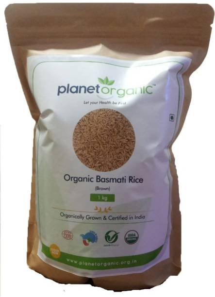 Planet Organic India Organic Basmati Rice Brown Brown Basmati Rice (Full Grain)