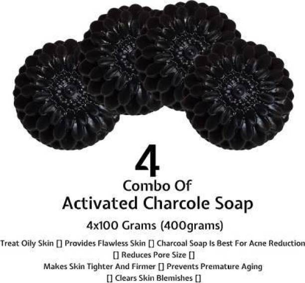 L&S activated charcoal soap pack of -4
