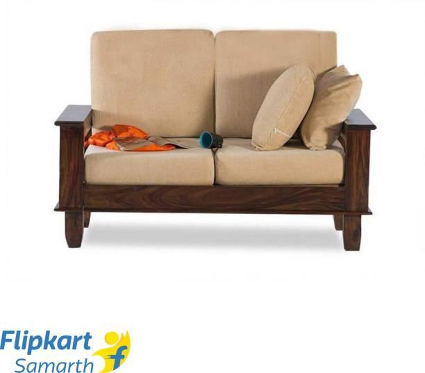 Divine Arts Woodeiving (Sheesham)Seater Sofa Set for Living Room Fabric 2 Seater  Sofa