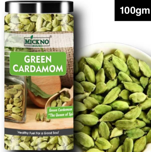 mickno organics 100gm Green Cardamom Seeds ( Choti Elaichi ) - Green Elaichi Premium Bold Quality
