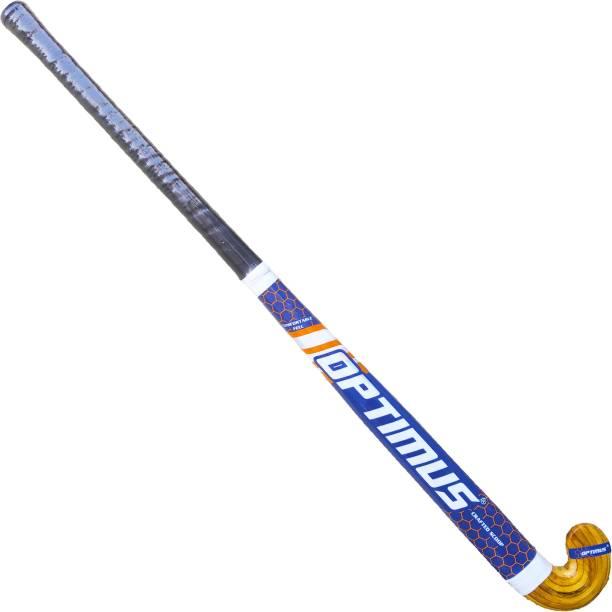 Optimus Xplod Hockey Stick Fiberglass With Laminated Head-37 Inch(Seniors)Tetron Cover Hockey Stick - 37 inch