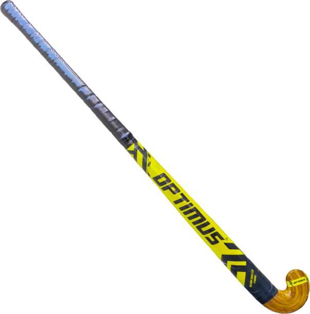 Optimus Ninja FX1 Hockey Stick 33 Inch(Junior)-Carbon & Fiber Glass With Laminated Head Hockey Stick - 33 inch