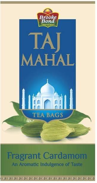 Taj Mahal Taj Mahal Fragrant Cardamom Tea Bags, 25 Pieces Cardamom Tea Bags Box
