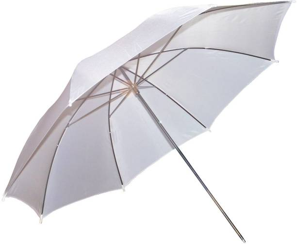 CHETAK WHITE PROFESSIONAL UMBRELLA. 85 CM (480 MM). For photography with METAL FITTINGS. Umbrella