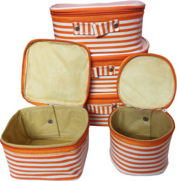 Aavni set of 5 piece premium quality kit for makeup shaving jewelleries storage SPECIAL Vanity Box