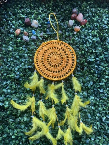 Ryme Handmade Crochet Dream Catcher Wall Hanging Wool Dream Catcher
