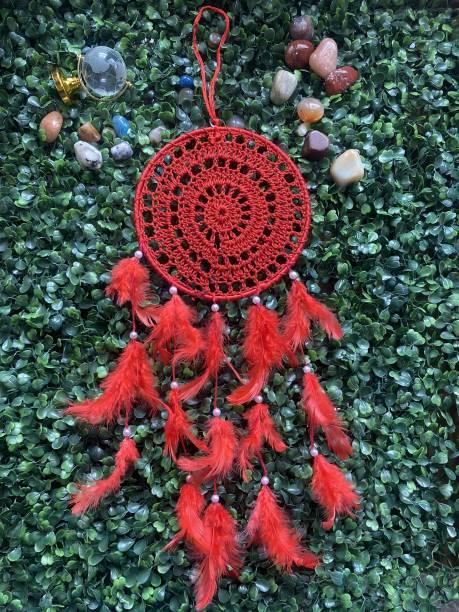 Ryme Beautiful Handmade Crochet Dream Catcher Wall Hanging Wool Dream Catcher