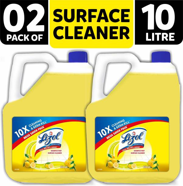 LIZOL Disinfectant Surface & Floor Cleaner 5Liter (Pack of 2) Citrus