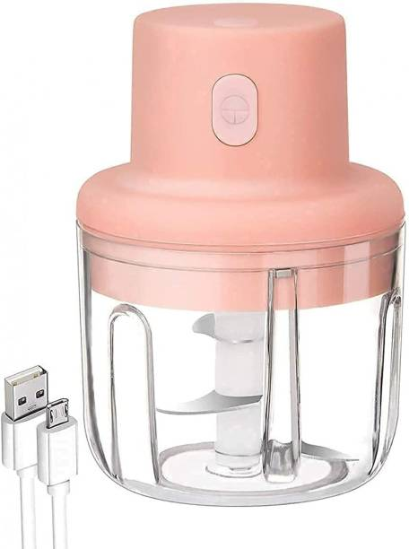 Sanchana Electric Mini Chopper Mincer with USB - Portable Small Food Processor - (250ML) Electric Meat Cutter