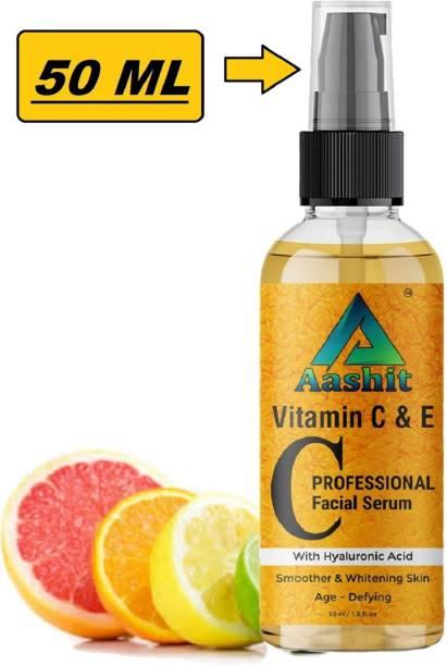 Aashit Vitamin C and E 20% Serum Fairness,Skin Brighter, Whitening & lighting, Age-Defying Skin Serum.