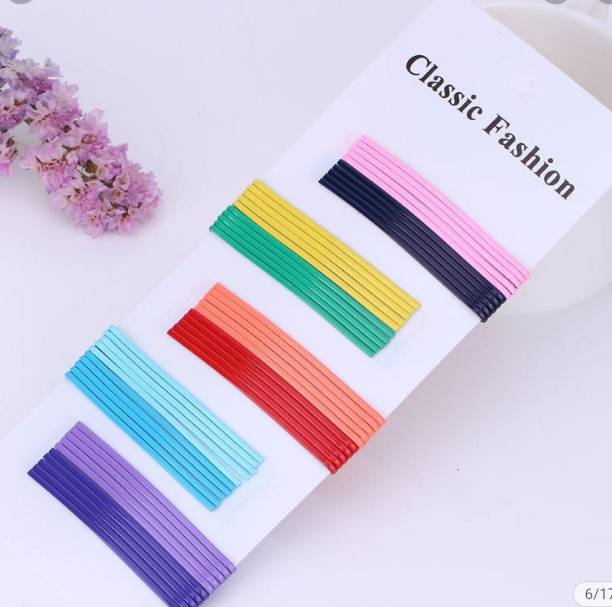 HOMEMATES Hair Pin Bobby Pins Metal Hair Pin Multi color Stylish fancy Jewellery Hair Accessories for Women Girls (pack of 50) Hair Pin