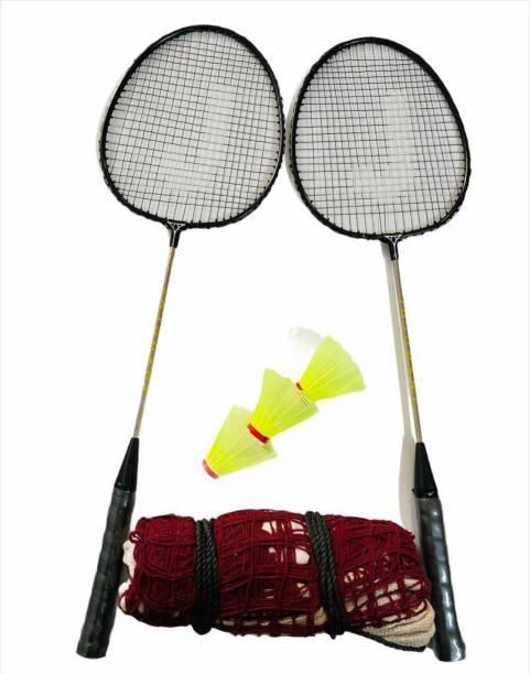 JOJOMART TOKYO 2020 BADMINTON KIT (2 PCS BADMINTON & 3SHUTTLECOCK) BLACK Badminton Kit