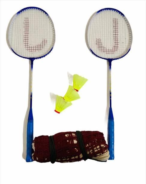 JOJOMART TOKYO 2020 BADMINTON KIT (2 BADMINTON, 3 SHUTTLECOCK & 1 NET) BLUE Badminton Kit