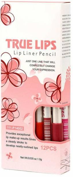 angelie Menow 15 cm Waterproof Professional Matte Lip Liner Pencil - Set of 12