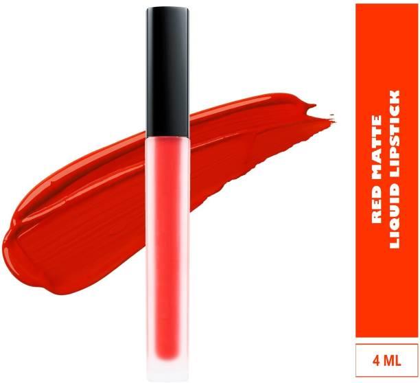 KASCN SUPER MATTE LIQUID MOUSSE NON-TRANSFER KISS PROOF BEAUTY LIPSTICK RED