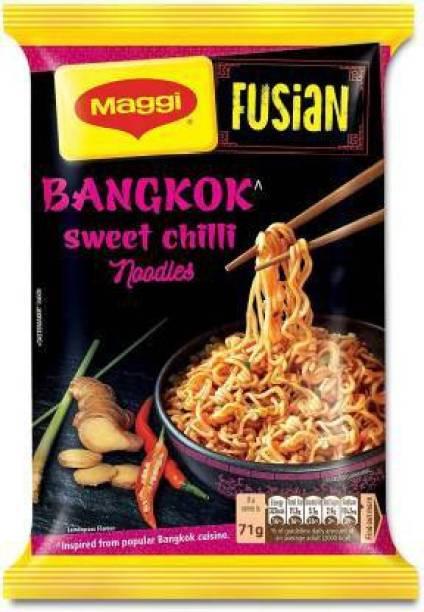 Maggi Fusian Bangkok Sweet Chilli Instant Noodles Vegetarian (71 g*12) Instant Noodles Vegetarian