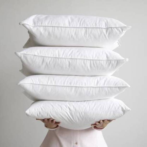 JDXROYAL Polyester Fibre Solid Sleeping Pillow Pack of 4