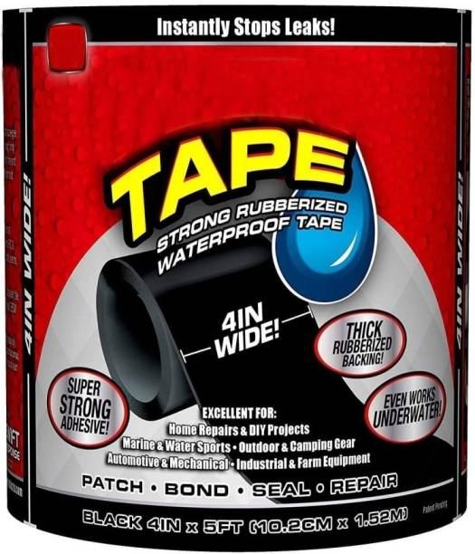 SHAVIRO Flex Tape for Seal Leakage Tape for Water Leakage Super Strong Waterproof Tape Adhesive Tape for Water Tank Sink Sealant for Gaps (Pack of 1) Water Leak Detector