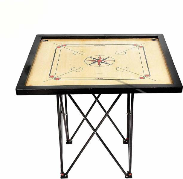 AQUILA Foldable and Height Adjustable Carrom Stand (Steel, Black) Carrom Stand