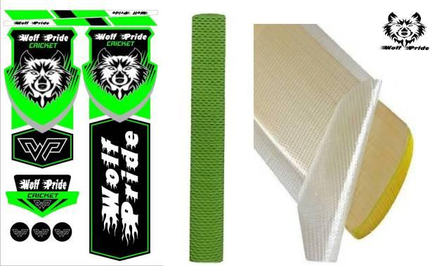 WOLF PRIDE Combo Green Cricket Bat Sticker, Grip, Anti Scuff Bat Sticker