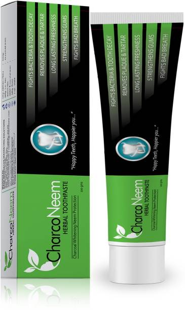CharcoNeem Charcoal & Neem Toothpaste With Coconut Oil Toothpaste