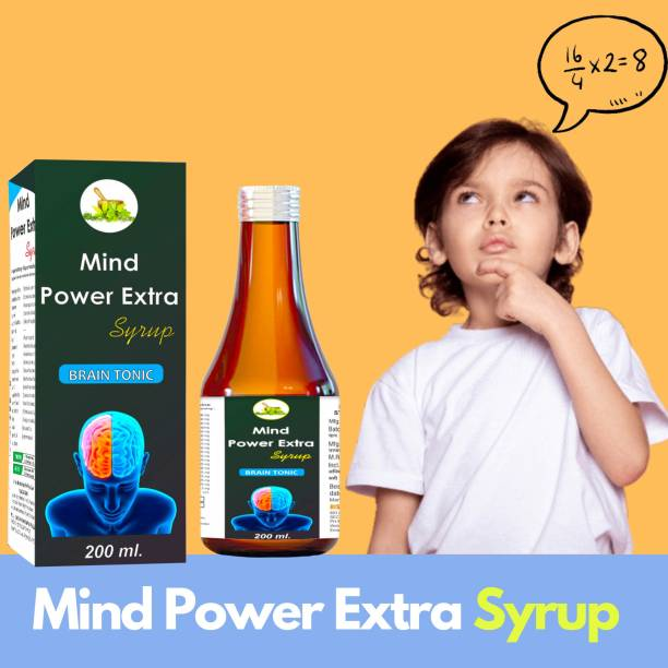 MInd power Extra Brain Tonic Syrup | Rejuvenates your mind | Relieves Stress and Anxiety | Boosts Memory - 200 ml