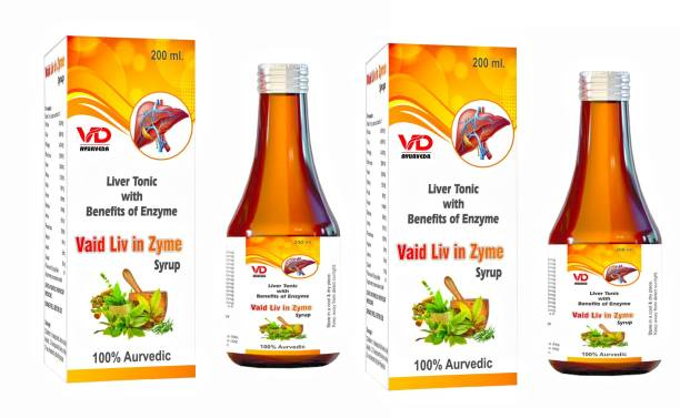 VD Ayurveda Vaidliv in Zyme Syrup | Liver Tonic | 100% Ayurvedic & Natural | Improves Appetite | Stimulates Liver Function | Digestive Enzyme Syrup