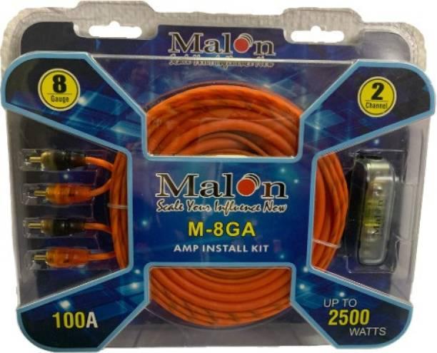MALON M-8GA AMPLIFIER WIRING KIT Two Class AB Car Amplifier