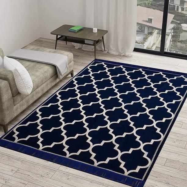 Radhey Radhey Blue Velvet Carpet
