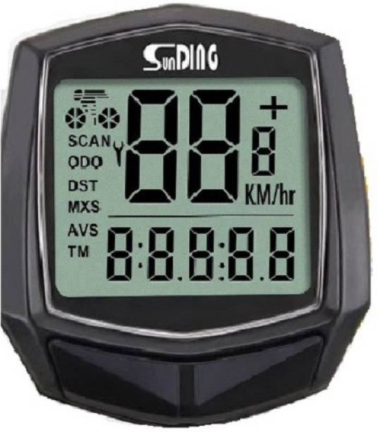 Sunding 581- 15 Function Back Light Waterproof Bicycle Computer Odometer Speedometer Wired Wired Cyclocomputer