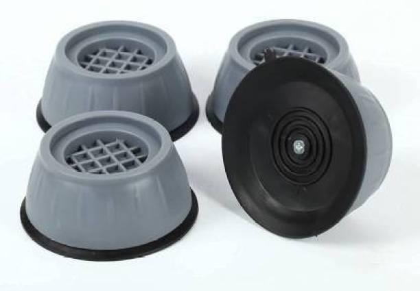 SHUANGYOU Washer Dryer Anti Vibration Pads with Suction Cup Feet, Fridge Washing Machine Leveling Feet Anti Walk Pads Shock Absorber Furniture Lifting Base(4 Piece). Dishwash Bar