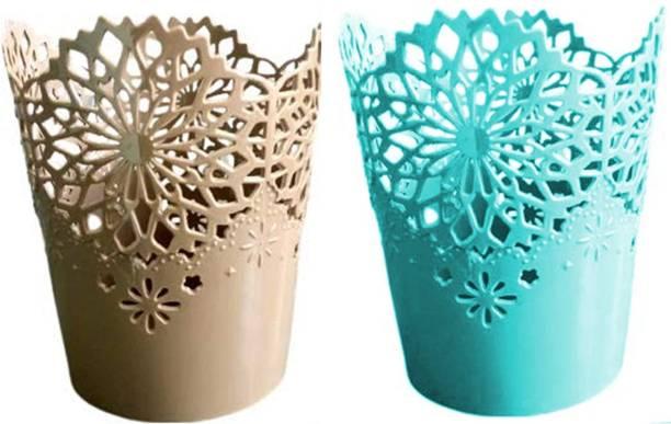 allteckin pen holder 2pic basket Plastic Flower Basket