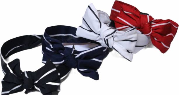 Nishant Creations women side bow knotted hair bands set of 4 Hair Band