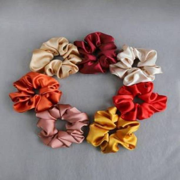 Volatile Silk Hair Scrunchies Hair Tie Accessories Soft Ponytail Holder Set of 7 pcs Scrunchies Rubber Band Hair Band
