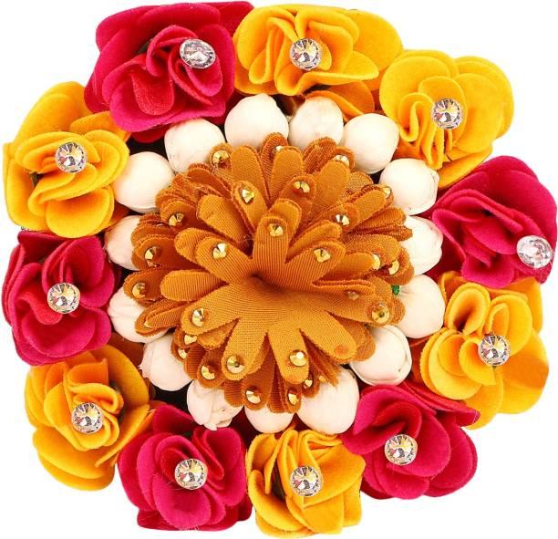 Xain Hair Bun Juda Maker Flower Gajra Hair Accessories For Women and Girls ,14 Bun