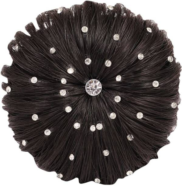 Xain  Juda For Party And Marriage Functions, Juda  Artificial, Full Synthetic  Juda For Girls And Women, Black,04 Hair Extension