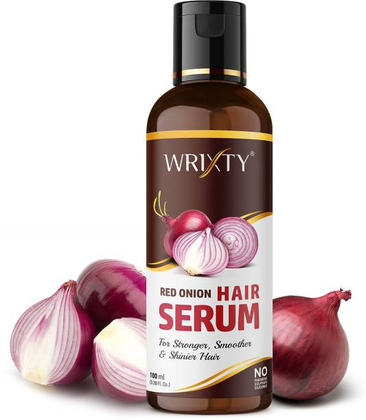 Wrixty Onion Hair Serum Frizz-Free Hair for Instant Smoothing, Repairing and Shining, With Onion & Biotin for Strong,Reduces tangles and Protects against Hair damage.