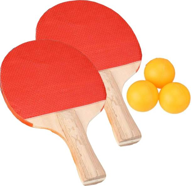 Innayat Table Tennis Racket Set-2 Table Tennis Rackets with 3 Balls Set (Multicolor) Table Tennis Kit