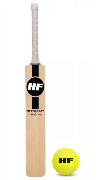 HF MY FIRST BAT Junior Cricket Bat Size 1 For Age Group 4-5 Years with 1 Piece Tennis Ball Cricket Kit