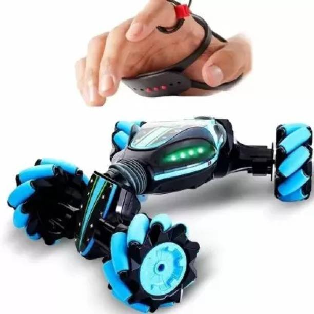 Radha Kripa Gesture Sensing Stunt Remote Control car Toy 360°Twisting Off-Road All-Terrain Vehicle with Lights & Music Traverse Crab Dancing Stunt Car Rechargeable 4WD Gesture Controlled