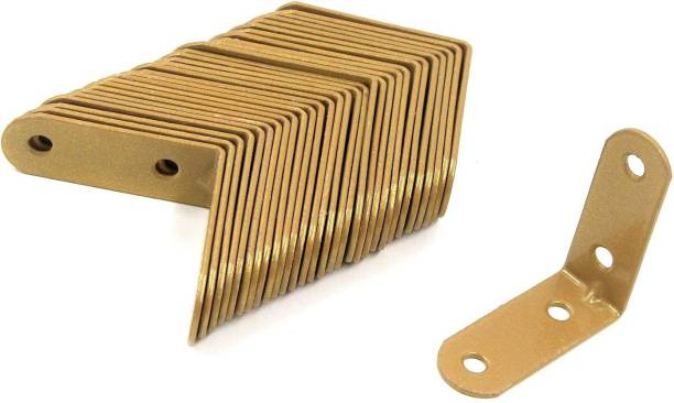 DILNAZ ART Iron Furniture Brackets 90 Degree Corner Braces Bed Golden Joint Bracket 89 Shelf Bracket