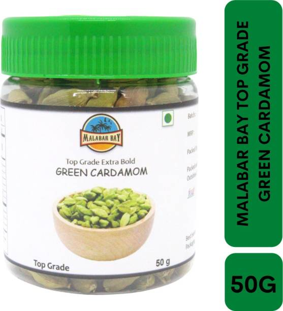 Malabar Bay Top Grade Bold Green Cardamom | Elachi | Elakkaya