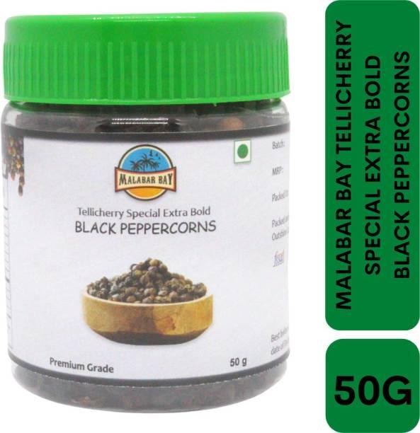 Malabar Bay PREMIUM GRADE TELLICHERRY SPECIAL EXTRA BOLD BLACK PEPPER | KAALEE MIRCHI