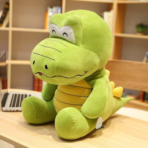 Hello Baby Soft Toys Cartoon Characters Plush Toys Best Soft Toy Big Size (Multi Color) (Crocodile-Green-35Cm)  - 16 inch